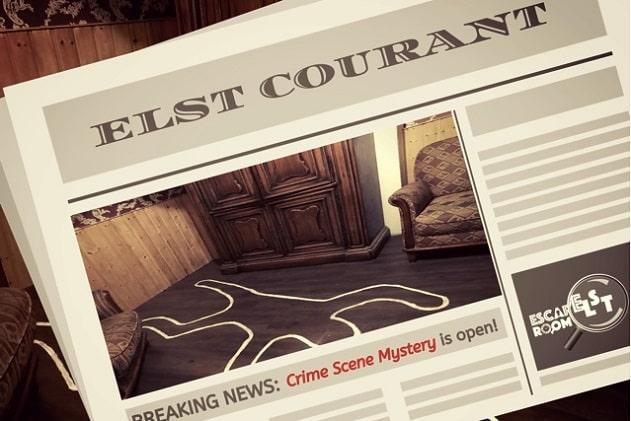 Crime Scene Mystery, deze escape room in omgeving Arnhem voor 2 personen is open