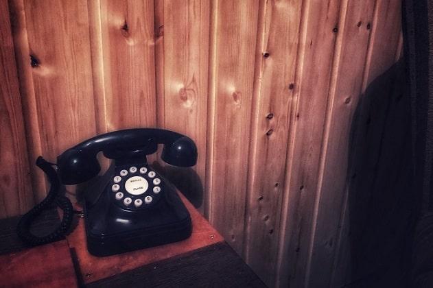 Telefoon in de Crime Scene Mystery